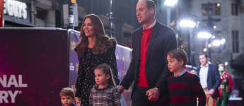Kate Middleton y los príncipes William, George, Charlotte y Louis