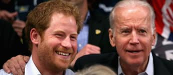 Prince Harry picture at Joe Biden inauguration 2021