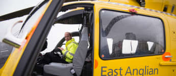 Prince William rescue pilot on duty at East Anglian Air Ambulance