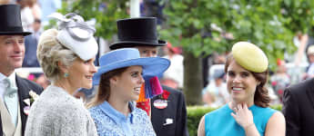 Princess Beatrice and Princess Eugenie shine in the color blue at Royal Ascot 2019