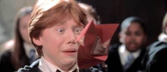 Rupert Grint en una escena de la película 'Harry Potter y la cámara secreta'