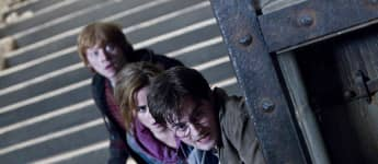 Rupert Grint, Emma Watson and Daniel Radcliffe in a scene from 'Harry Potter and the Deathly Hallows: Part 2'