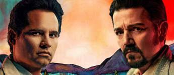 Michael Pena y Diego Luna en una imagen promocional de la serie 'Narcos: México'