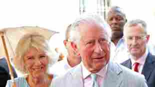 Prince Charles, Prince of Wales and Camilla, Duchess of Cornwall with historian Eusebio Leal during a guided tour of Old Havana on March 25, 2019 in Havana, Cuba.