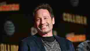 David Duchovny speaks onstage at The X-Files panel during 2017 New York Comic Con -Day 4