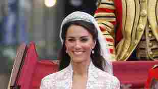Duchess of Cambridge exits following her marriage to HRH Prince William, Duke of Cambridge at Westminster Abbey on April 29, 2011