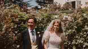Princess Beatrice and Edoardo Mapelli Mozzi on their wedding day, 17 July 2020.
