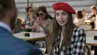 Lily Collins in a scene from the series 'Emily in Paris'