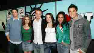 """The cast of """"One Tree Hill"""" backstage during MTV's Total Request Live in NYC."""