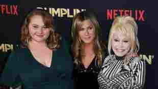 Dolly Parton, Jennifer Aniston and Danielle MacDonald