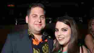 """Jonah Hill and sister Beanie Feldstein attend the after party for the premiere of Universal Pictures' """"Neighbors 2: Sorority Rising"""" on May 16, 2016 in Los Angeles, California"""