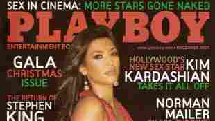 Kardashian is featured on the December 2007 cover of Playboy magazine.