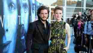 Kit Harrington Rose Leslie Game of Thrones Premiere