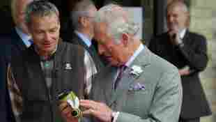 Prince Charles Reacts To Being Given Anti-Wrinkle Cream gift Oxfordshire engagement photos pictures video 2021 royal family news Prince Harry visit UK