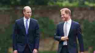 Prince William And Prince Harry Reveal Princess Diana Statue watch video unveiling moment royal family reunion brothers ceremony event 60th birthday 2021