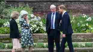 Prince William and Prince Harry reunite with Princess Diana's siblings at 2021 statue unveiling Charles Spencer Lady Sarah McCorquodale Lady Jane Fellowes Royal Family news