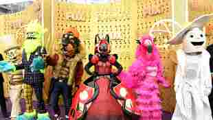 'The Masked Singer' mascots attend the 71st Emmy Awards at Microsoft Theater on September 22, 2019 in Los Angeles, California.