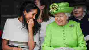 Video: Queen, Meghan Share Blanket In Moment From Oprah Interview
