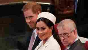 El príncipe Andrew, Harry y Meghan
