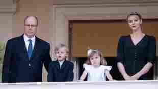 Prince Albert, Princess Charlène and the twins Jacques and Gabriella