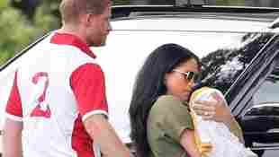 Prince Harry, Duchess Meghan and Archie at the Royal Charity Polo Match