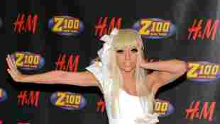 Lady GaGa poses in the press room during Z100's Jingle Ball at Madison Square Garden on December 12, 2008 in New York City