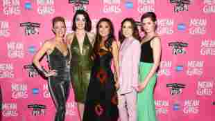 Kate Rockwell, Barrett Wilbert Weed, Ashley Park, Erika Henningsen and Taylor Louderman attend the 'Mean Girls' Broadway opening night after party, April 8, 2018.