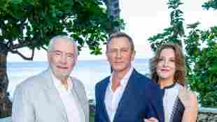"""The long-time producers of the """"Bond"""" movies, Michael G. Wilson and Barbara Broccoli with """"007"""" Daniel Craig."""