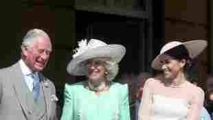 Príncipe Carlos, Duquesa Camilla y Duquesa Meghan Príncipe Carlos 70 ° cumpleaños Palacio de Buckingham