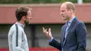 Prince William and Gareth Southgate in June 2018.