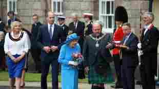 Prince William Tours Factory In Scotland With Queen Elizabeth II