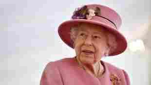 Queen Elizabeth II Welcomes Spring At Buckingham Palace Garden