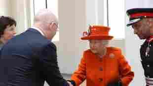 Queen Elizabeth II Shaking Hands