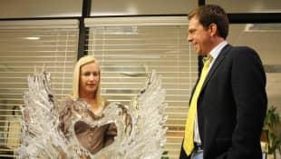 Angela Kinsey y Ed Helms en 'The Office'