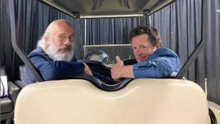 Christopher Lloyd and Michael J. Fox