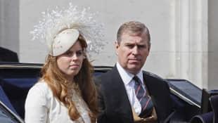 Príncipe Andrew y princesa Beatriz