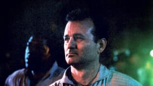 "Bill Murray as ""Peter Venkman"" in Ghostbusters."