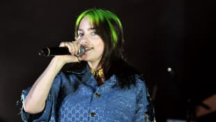 Billie Eilish at the 2019 LACMA Art + Film Gala Presented By Gucci at LACMA on November 02, 2019 in Los Angeles, California