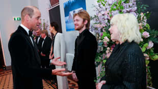 Prince William, Finneas and Billie Eilish