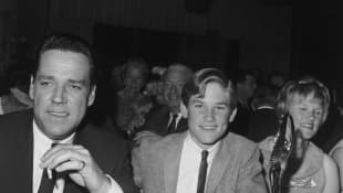Bing and Louise Russell with their son, Kurt Russell, at the Spotlighter Teen Awards dinner, October, 1966.