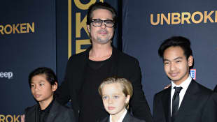 Brad Pitt with Shiloh, Maddox and Pax Jolie-Pitt