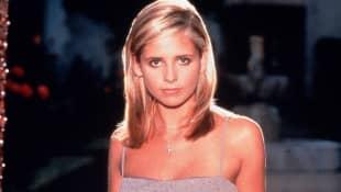 Sarah Michelle Gellar en una imagen promocional de 'Buffy: la cazavampiros'