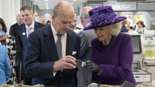 Príncipe Felipe de Edimburgo y Camila de Cornualles