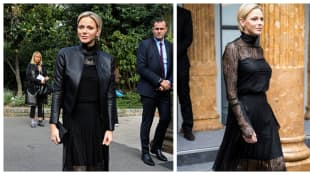 Princess Charlène of Monaco attends Paris Fashion Week