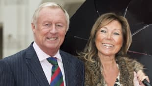 Chris Tarrant and Jane Bird arrive for The Sun Military Awards at The Guildhall on January 22, 2016 in London, England