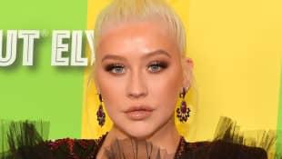 Christina Aguilera attends the 2019 amfAR Gala Los Angeles at Milk Studios on October 10, 2019 in Los Angeles, California.