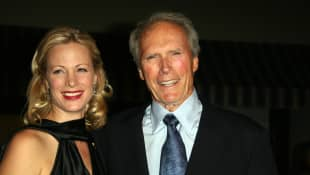 Clint Eastwood and daughter Director Alison Eastwood arrive at the premiere of Rails and Ties, 23 October 2007, in Los Angeles, California