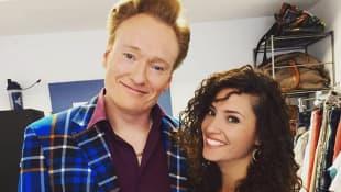 Conan O'Brien and Nadine Menz