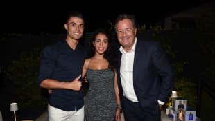 Cristiano Ronaldo, Georgina Rodríguez y Piers Morgan