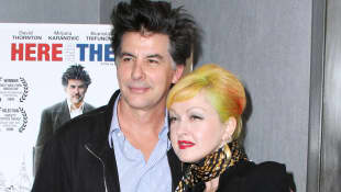 David Thornton and Cyndi Lauper